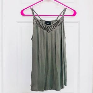 MOSSIMO | Crochet Olive Green Tank Top - Sml